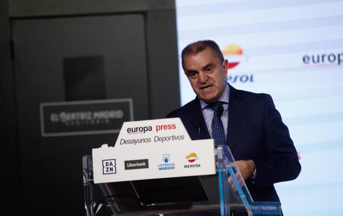 Joaquin Molpeceres Sanchez Desayunos Deportivos Europa Press JOse Manuel Franco 5